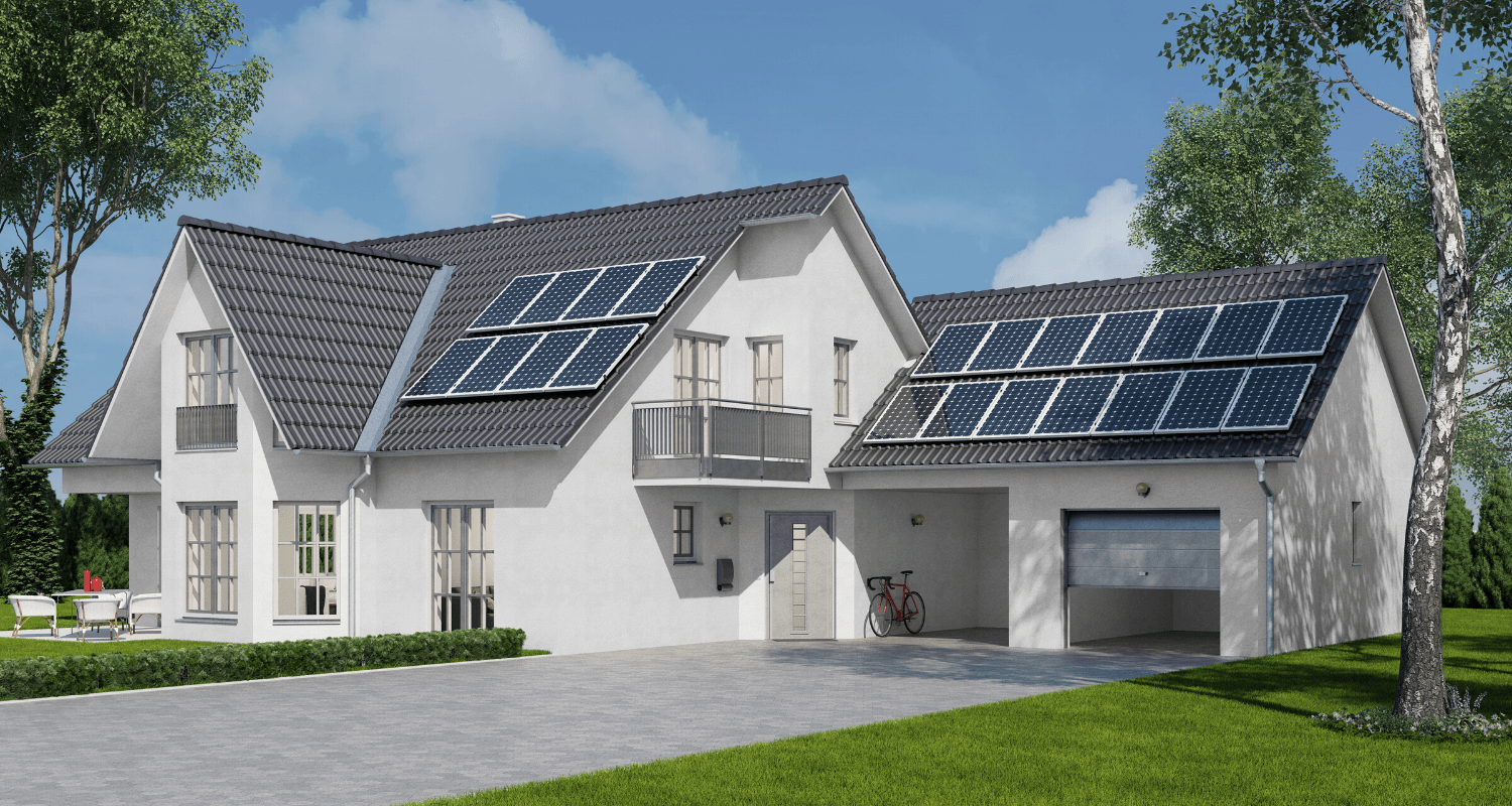 A house that is selling with leased solar panels.
