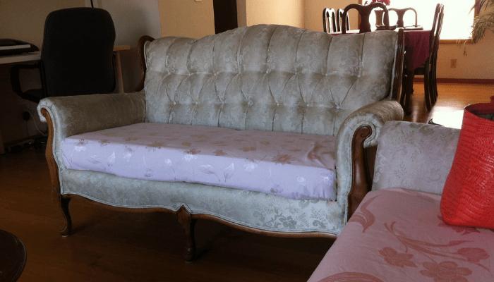 Furniture in a beach house.