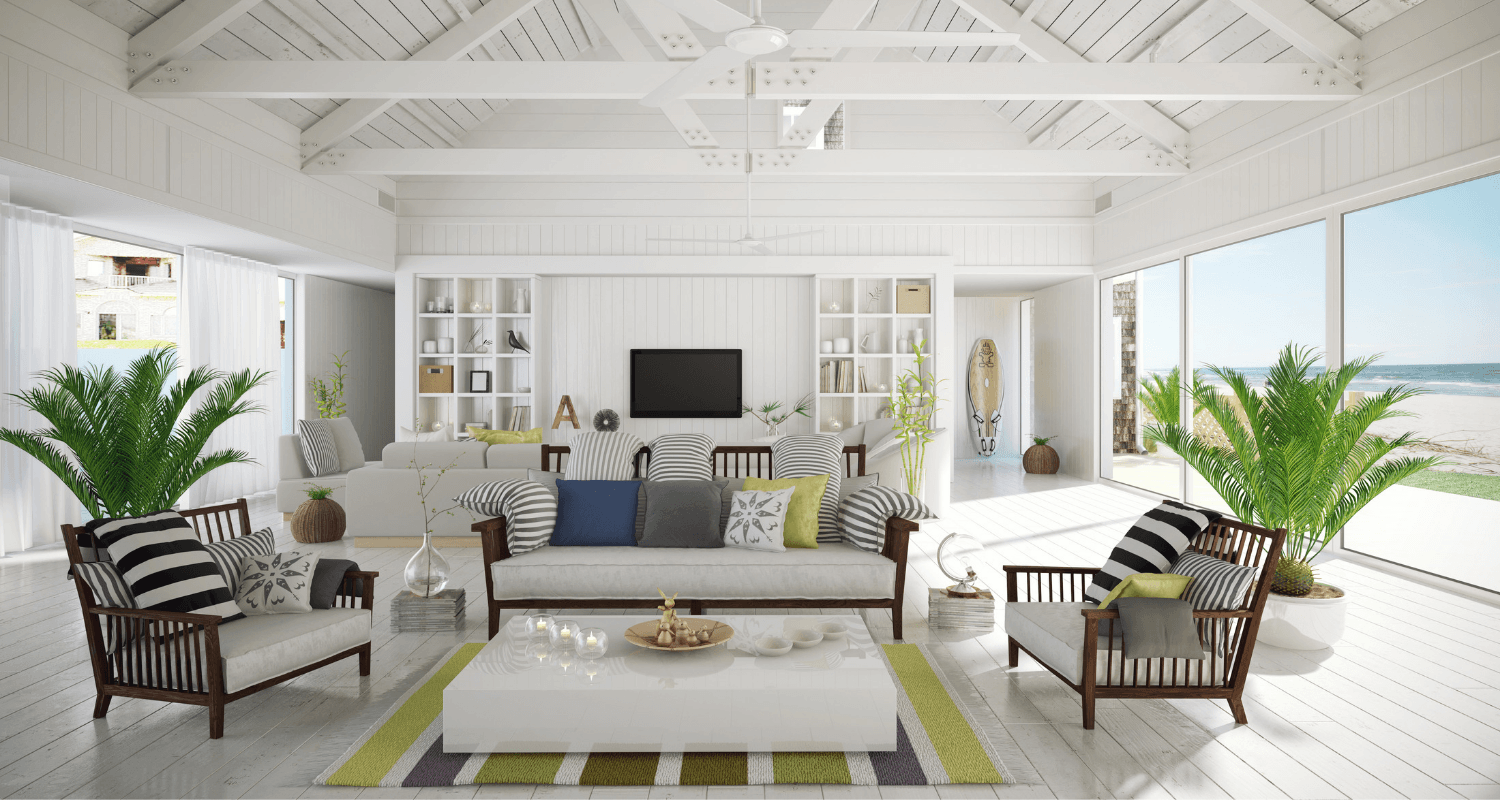 A beach house that's staged.