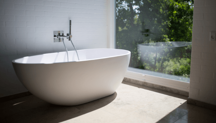 A bathtub used as a trick to pass the home inspection.