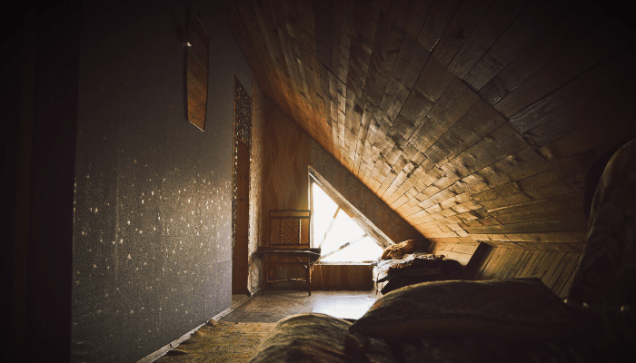 An attic that you discuss after you buy a house.
