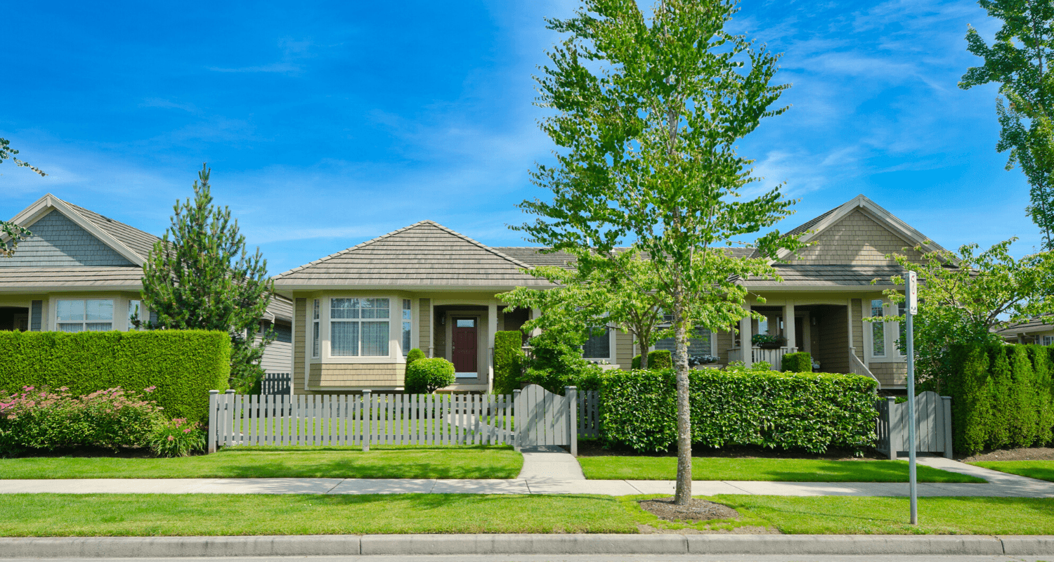 A house in an hoa with pros and cons.