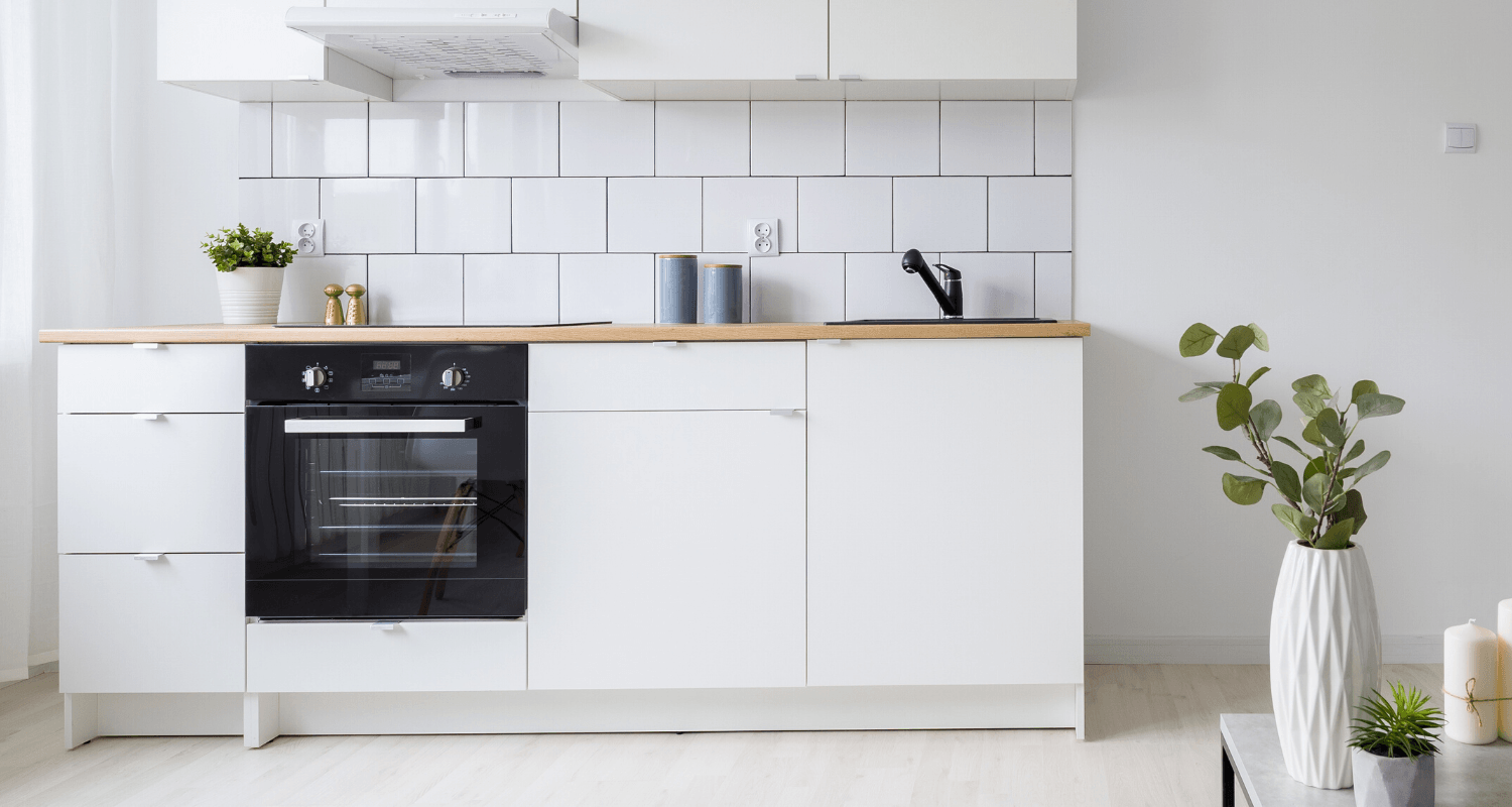 A kitchenette in a house.