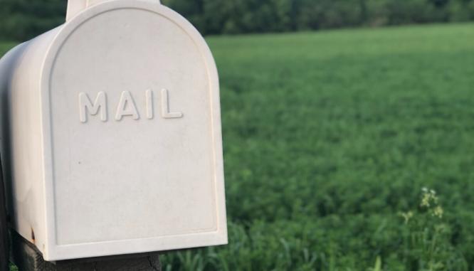 A mailbox in an hoa.
