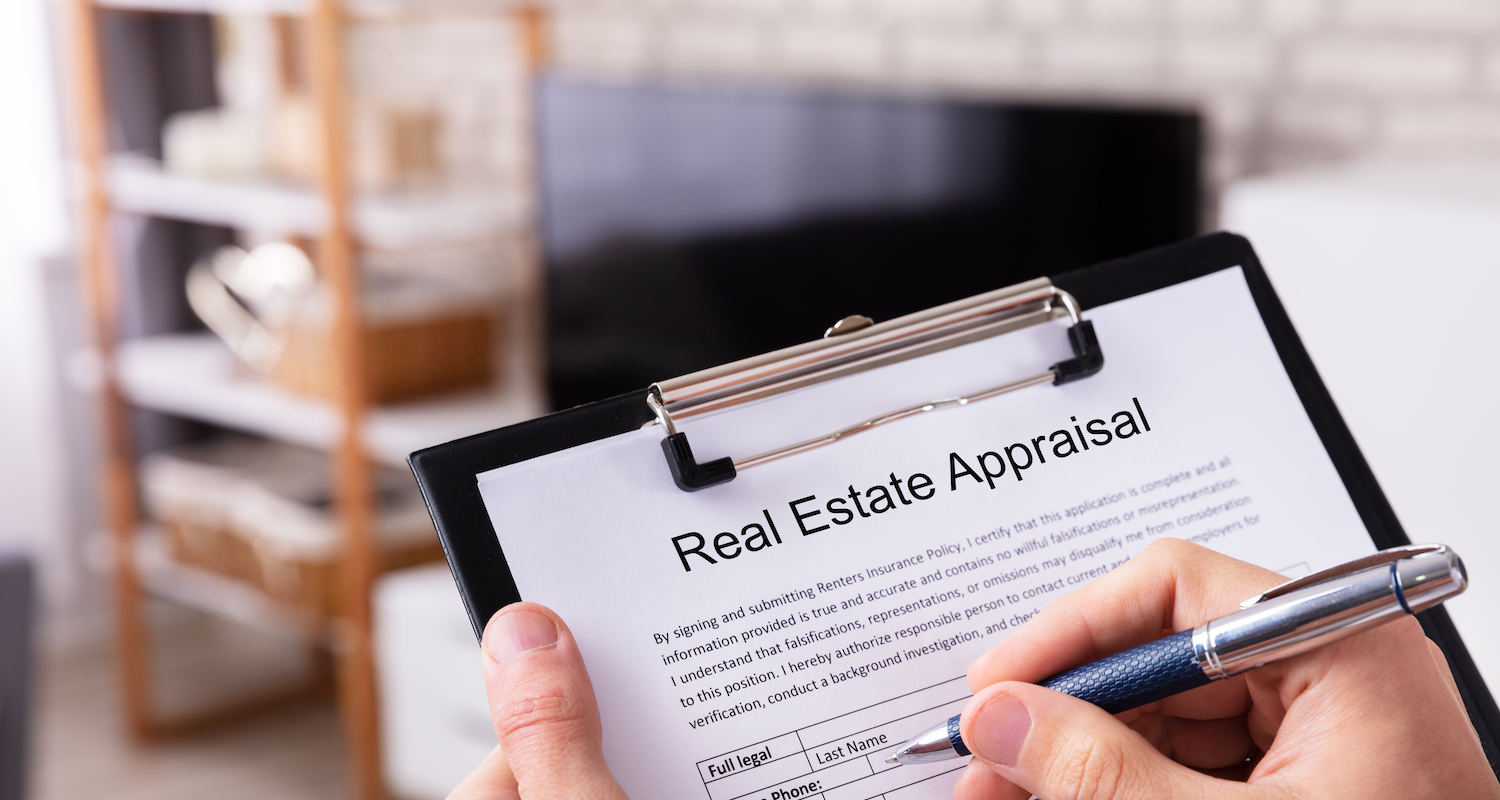 A close-up of a real estate home appraisal