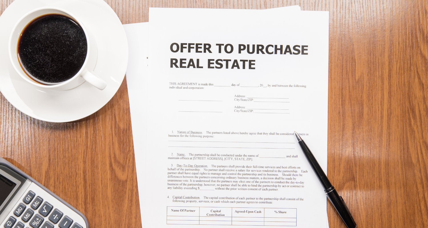 A real estate contract.
