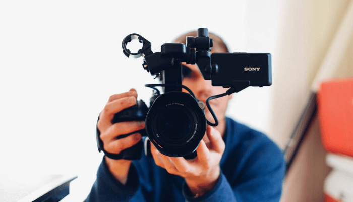 A camera used to create real estate listing videos.
