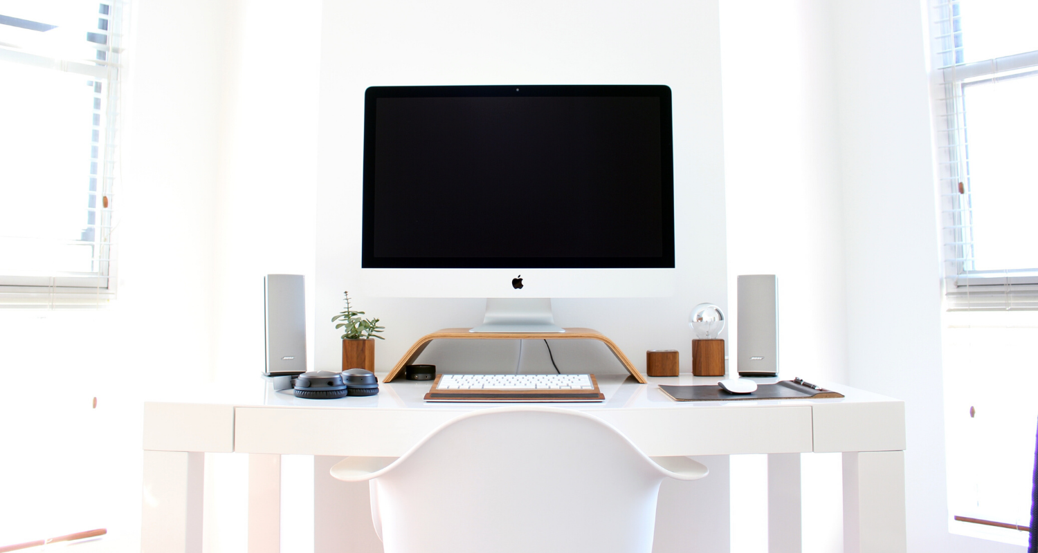 A home office that has been staged.