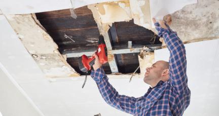 A man doing general home repair and maintenance.