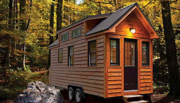 A tiny house ready to sell.