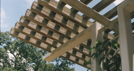 A pergola used for front porch curb appeal.