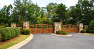 A gate that hoa fees cover.