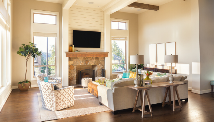 Make sure the furniture flows well when staging your home to sell quickly