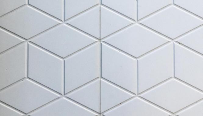Tile used in a 5x7 bathroom remodel.