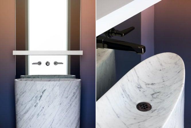 A bathroom using 2020 home design trends.