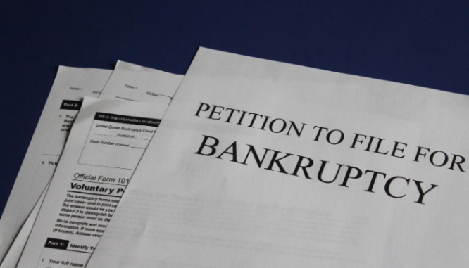 A petition to file bankruptcy because of a tax lien.