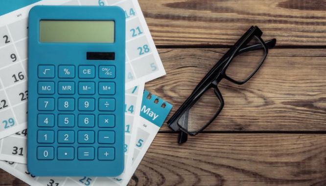 A calculator used to find out the cost of a new build house.