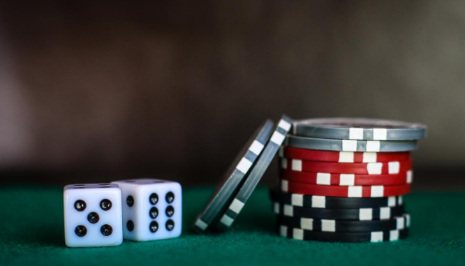 Gambling chips representing a lien found in a title search.